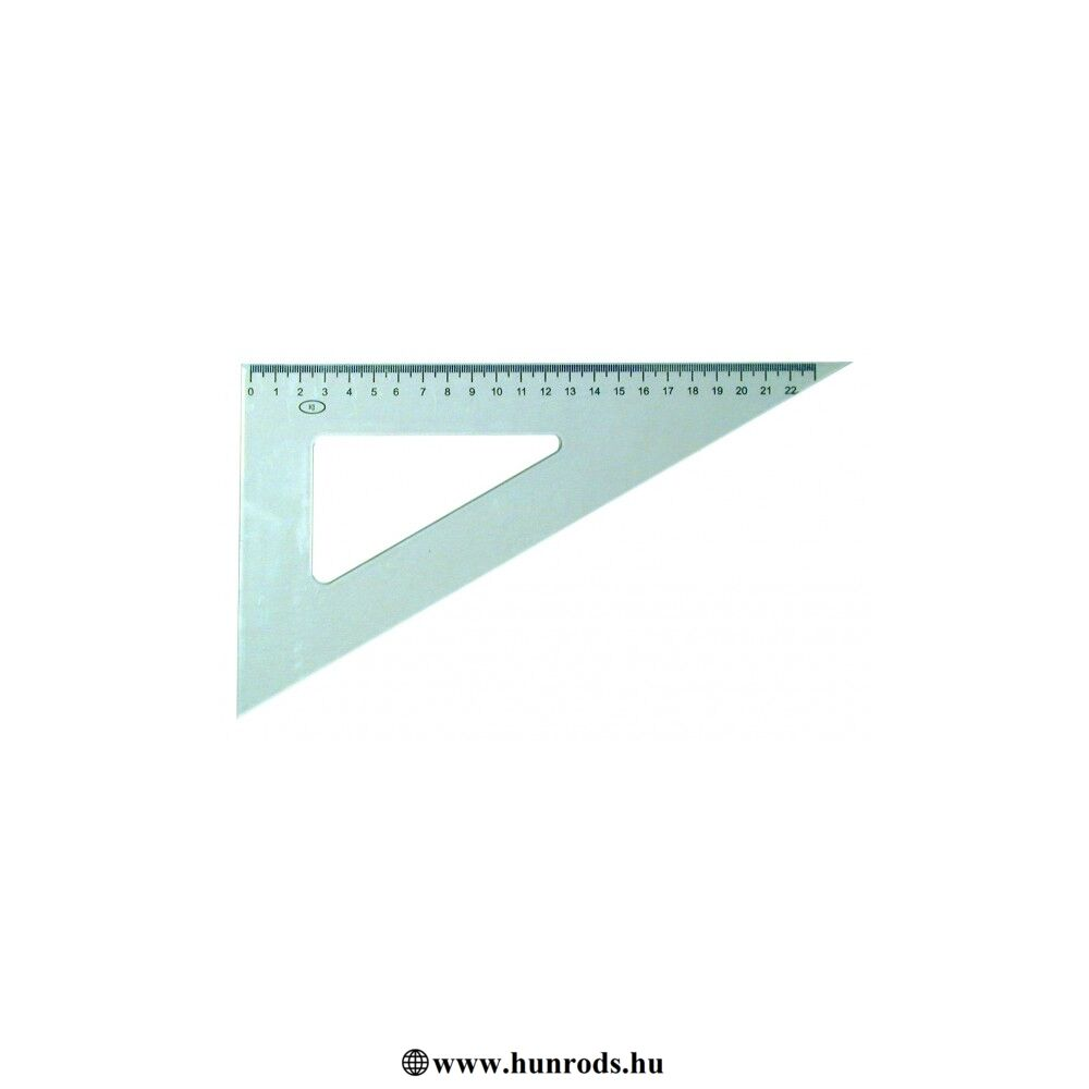 Vonalzó háromszög 60  ͦ22 cm