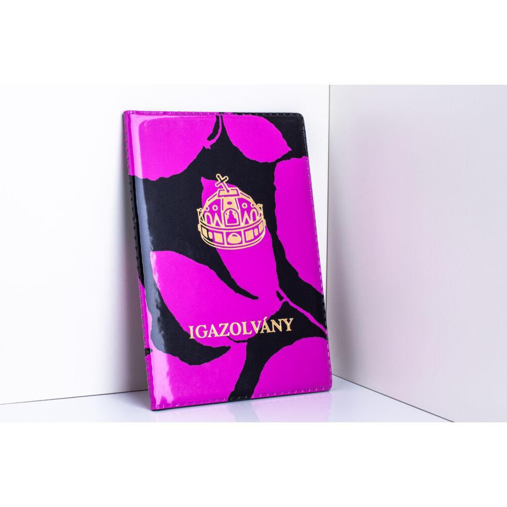 10011-4 Pink-Fekete Design