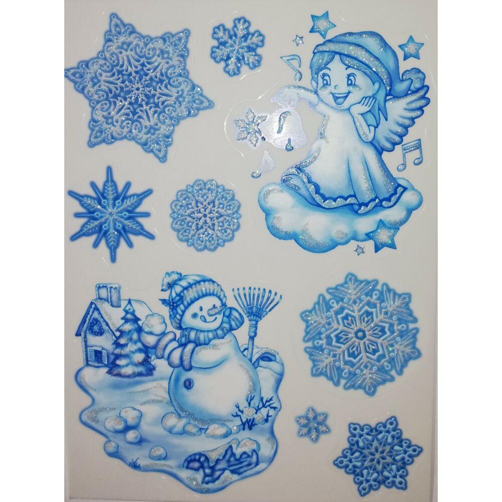Karácsonyi ablakmatrica 481