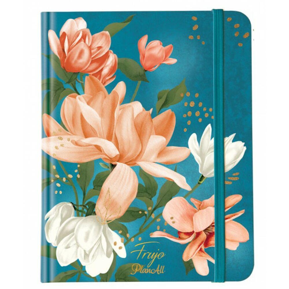 Viszkok Fruzsi PlanAll FruJo Blue Magnolia Bullet Journal Napló