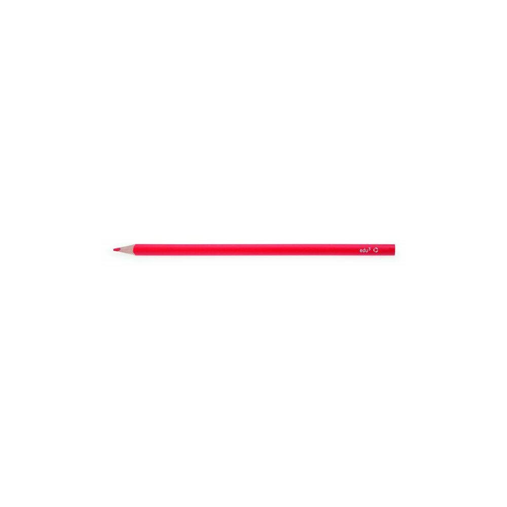 EDU3 VASTAG  színes ceruza háromszög PIROS