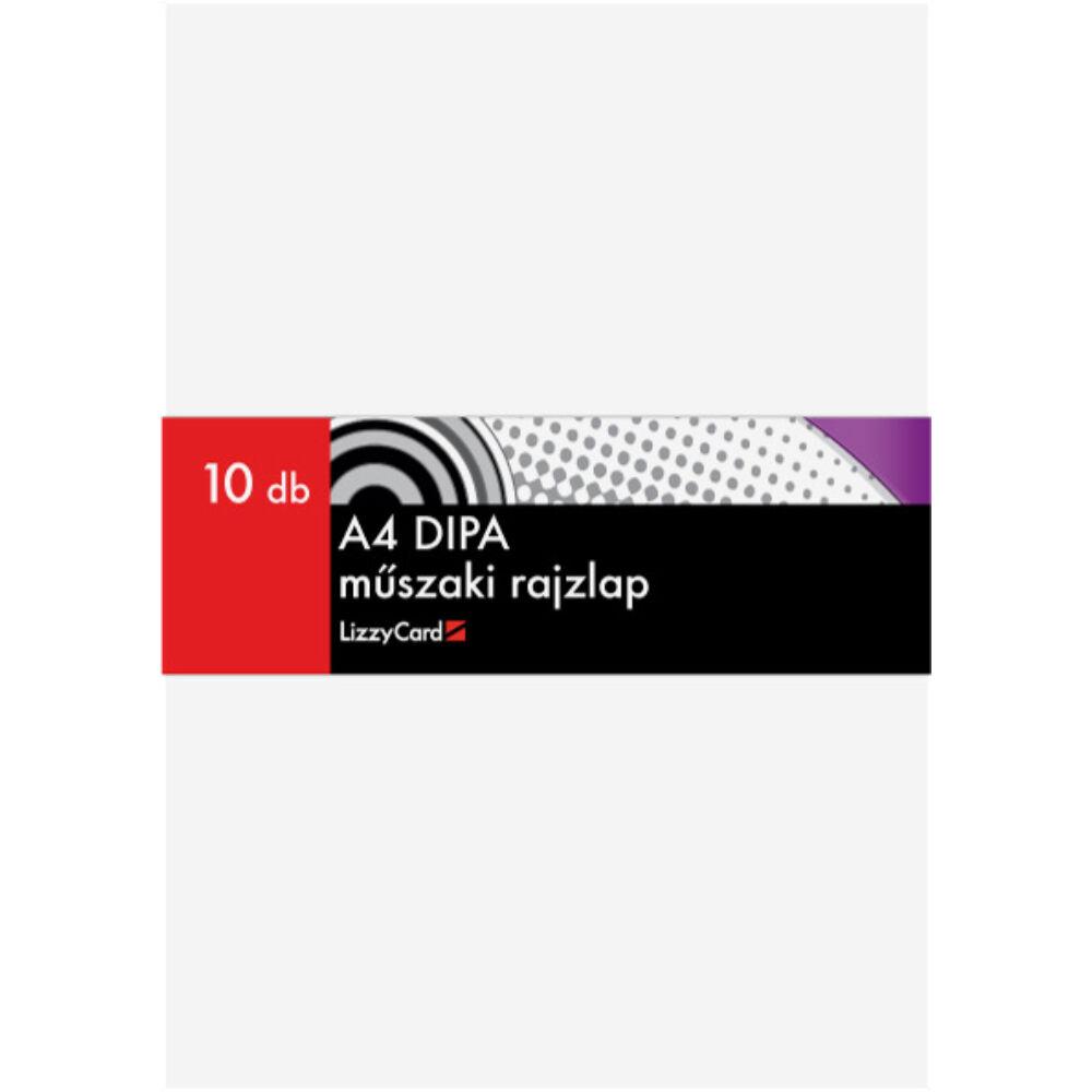 Dipa A4 műszaki rajzlap 10 ív