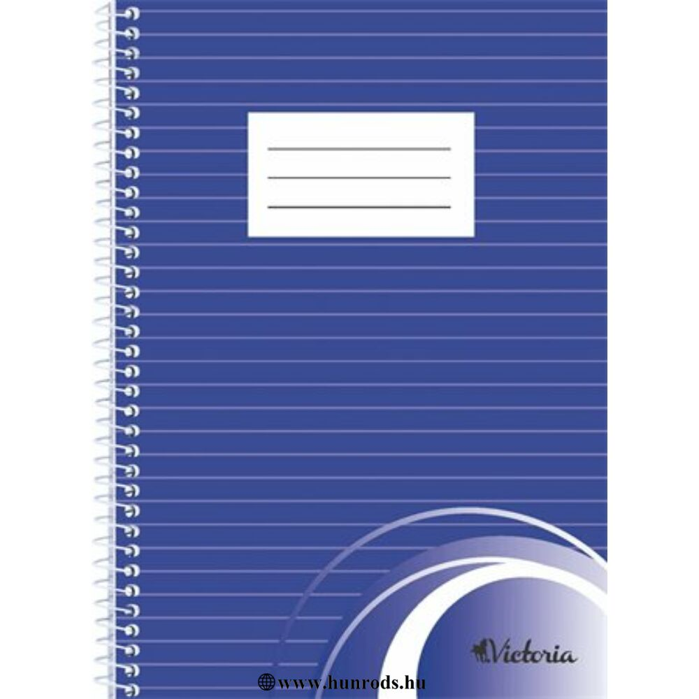 Spirálfüzet, A5, vonalas, 70 lap, VICTORIA