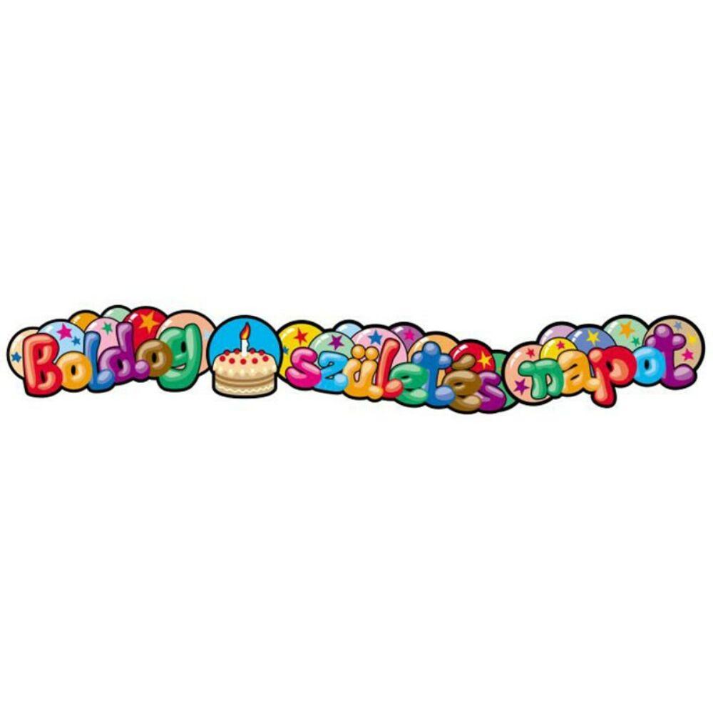 Boldog születésnapot buborékos betűfüzér