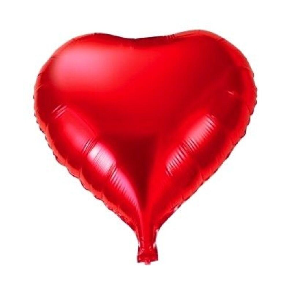 Szív alakú fólia lufi