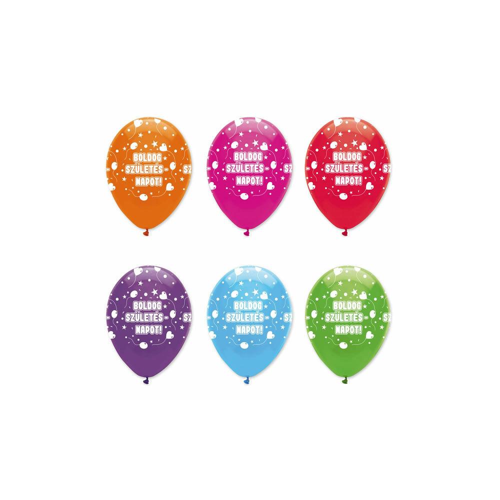 Boldog születésnapot feliratú gumi lufi
