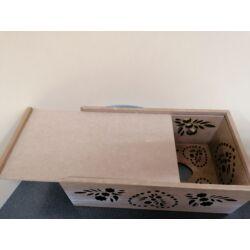 Kép 3/3 - Fa szalvéta- és zsebkendőtartó