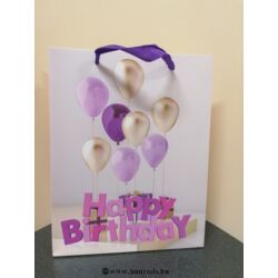 Kép 3/4 - Dísztasak születésnapra közepes méretű 23x18x7,5 cm