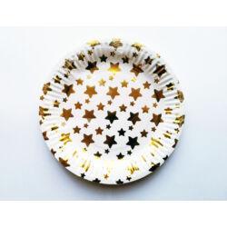 Kép 1/3 - Papírtányér party csillag mintával
