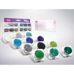 Kép 2/3 - Csillámpor 12 x 2,5 ml Legszebb hideg színek válogatása