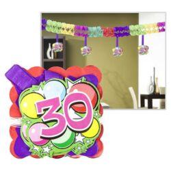 Kép 1/6 - Számos girland születésnapra 400x12x12cm, 12 db függő számmal