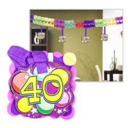 Kép 4/6 - Számos girland születésnapra 400x12x12cm, 12 db függő számmal