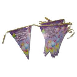 Kép 5/5 - Boldog születésnapot zászló füzér