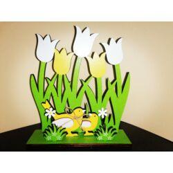 Kép 2/2 - Sárga-fehér tulipánnal