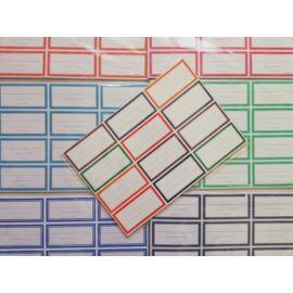 Füzetcimke egyszínű  12 db-os