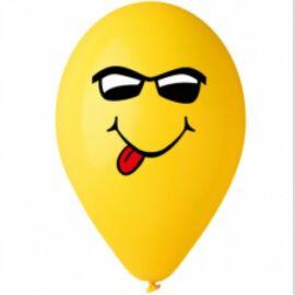 Nyelves sárga smiley  gumi lufi