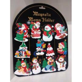 Karácsonyi hűtőmágnes szett 12db.-os gumi