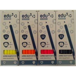 EDU3 VASTAG  színes ceruza háromszög NEON SZÍNEK ÚJ!