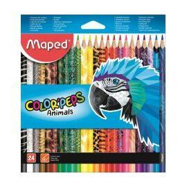 """Színesceruza háromszögletű, MAPED """"Color Peps Animal"""" 24 db"""