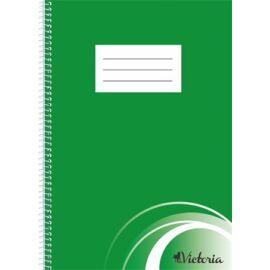 Spirálfüzet, A4, sima, 70 lap, VICTORIA