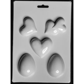 Gipszkiöntő forma 3D tojás szívecskék 196