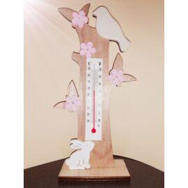 Fa nyuszis dekor hőmérővel