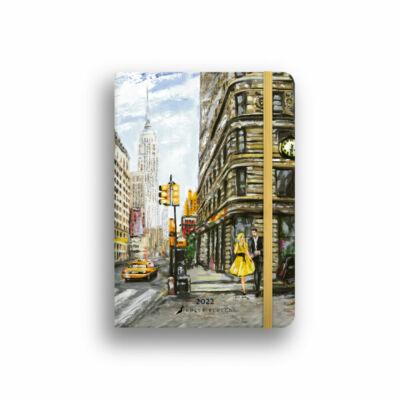 Dolce Blocco Secret Calendar heti tervező 2022 New York B6