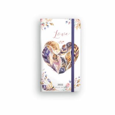 Dolce Blocco Secret Pocket Planner heti tervező 2022 Love