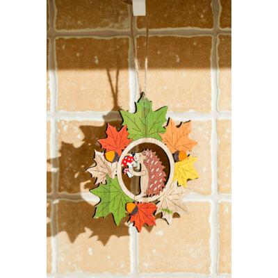 Sündisznó falevelekkel lógatható őszi dekoráció SFT798505