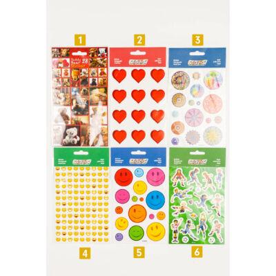 Matrica különböző mintákkal nagy méretű - szív, szmájli, mandala, foci