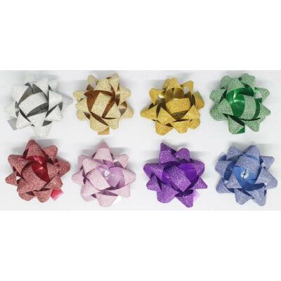 Öntapadós glitteres csillag 8 cm
