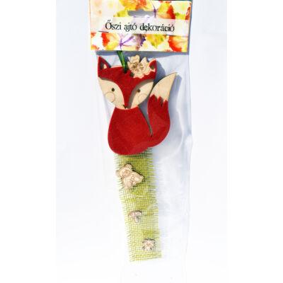Fa-filc róka dekoráció