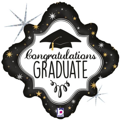 45 cm-es Congratulations Graduate feliratú, hologrammos  fólia lufi