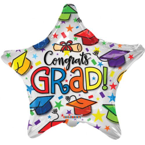 Fólia lufi ballagásra Congratulations Grad csillag