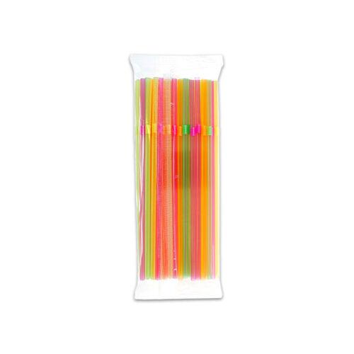 Szívószál hajlított, színes 50db-os