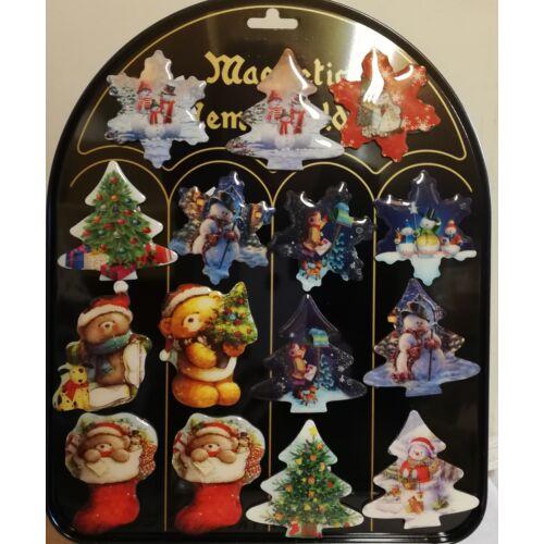Karácsonyi hűtőmágnes szett 15db.-os
