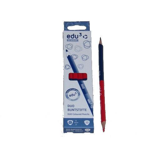 EDU3 postairon vékony háromszög piros-kék