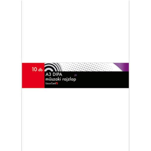 Dipa A3 műszaki rajzlap 10 ív