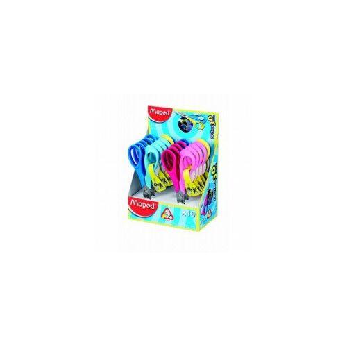 """Olló óvodai,12 cm, balkezes, MAPED """"Vivo 3D"""", vegyes színek"""