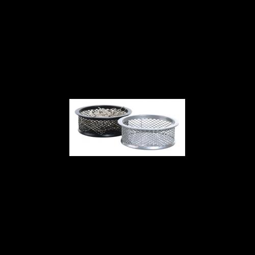 Gemkapocstartó, fémhálós, VICTORIA, ezüst