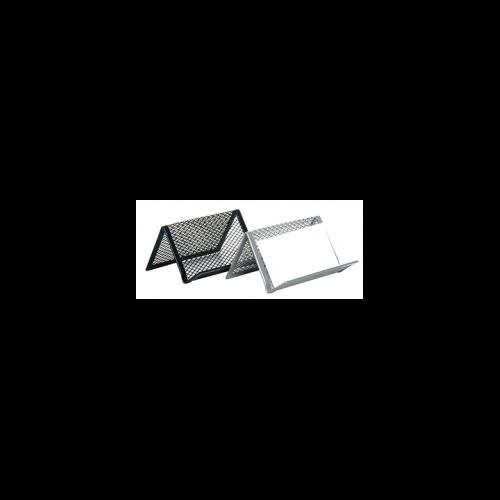 Névjegytartó, fémhálós, VICTORIA, ezüst