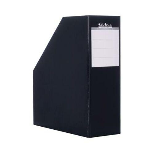 Iratpapucs, karton, 90 mm, VICTORIA, fekete