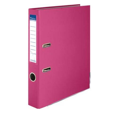 """Iratrendező, 50 mm, A4, PP/karton, élvédő sínnel, VICTORIA, """"Basic"""", rózsaszín"""