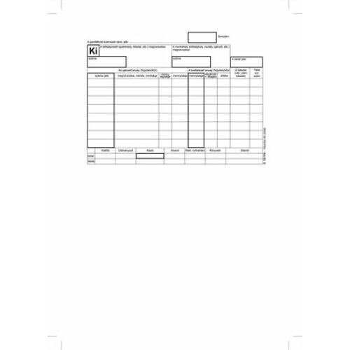 """Nyomtatvány, készletkivételezési bizonylat, 25x4, A5, VICTORIA """"B.12-114"""""""