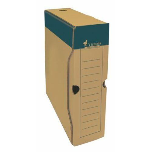 Archiváló doboz, A4, 80 mm, karton, VICTORIA, natúr