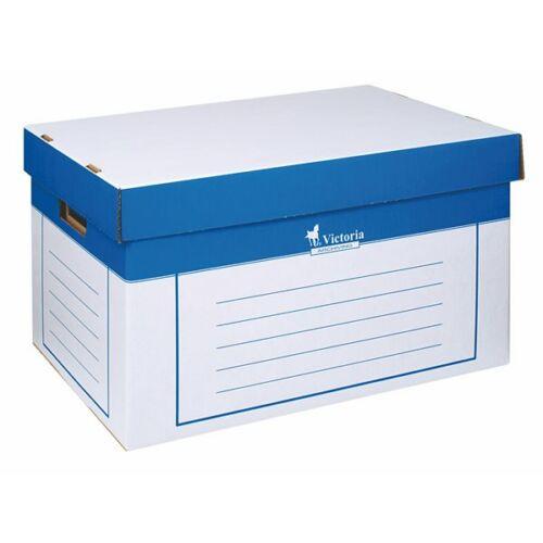 Archiváló konténer, 320x460x270 mm, karton, VICTORIA, kék-fehér