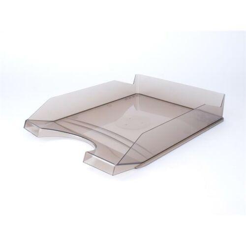 Irattálca, műanyag, VICTORIA, áttetsző füstszínű