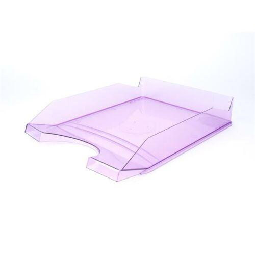 Irattálca, műanyag, VICTORIA, áttetsző lila