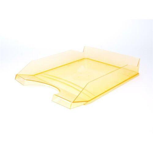 Irattálca, műanyag, VICTORIA, áttetsző narancs