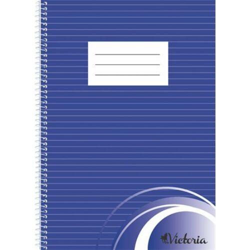Spirálfüzet, A4, vonalas, 70 lap, VICTORIA
